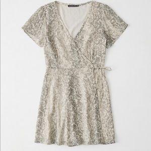Abercrombie Snake Print Wrap Dress